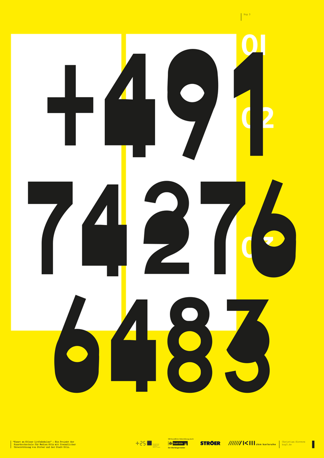 mobile phone number - advertising columns poster